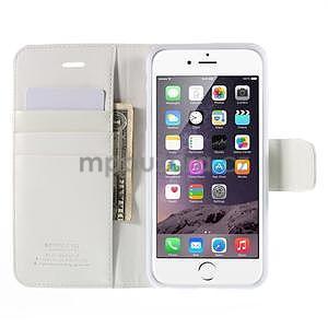 Peňaženkové puzdro pre iPhone 6 Plus a 6s Plus - biele - 6