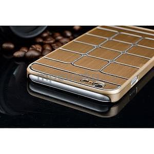 Štýlový kryt s kovovými chrbtom pre iPhone 6 Plus a 6s Plus - champagne - 6