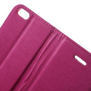 Cloth PU kožené puzdro pre iPhone SE / 5s / 5 - rose - 6