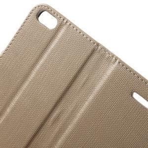 Cloth PU kožené pouzdro na iPhone SE / 5s / 5 - zlaté - 6