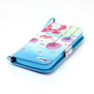 Peňaženkové puzdro pre mobil iPhone SE / 5s / 5 - púpavy - 6