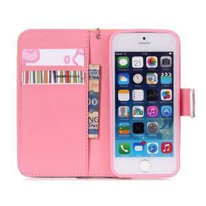 Peňaženkové puzdro pre mobil iPhone SE / 5s / 5 - makový kvet - 6