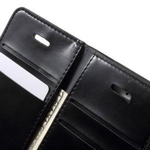 Extrarich PU kožené puzdro pre iPhone SE / 5s / 5 - čierne - 6