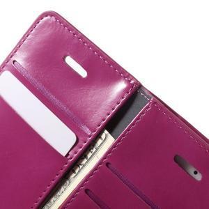 Extrarich PU kožené puzdro pre iPhone SE / 5s / 5 - magneta - 6