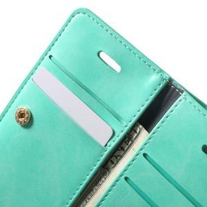 Extrarich PU kožené puzdro pre iPhone SE / 5s / 5 - azurové - 6