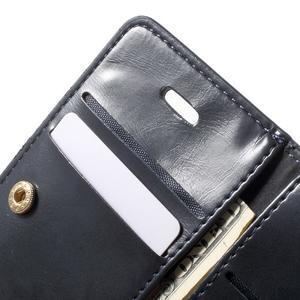 Extrarich PU kožené puzdro pre iPhone SE / 5s / 5 - tmavomodré - 6