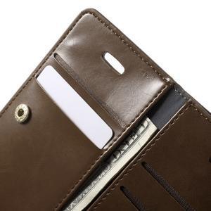 Extrarich PU kožené pouzdro na iPhone SE / 5s / 5 - tmavěhnědé - 6