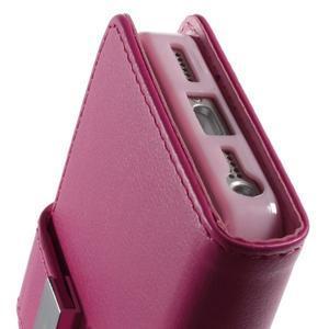 Rich diary PU kožené pouzdro na iPhone SE / 5s / 5 - rose - 6