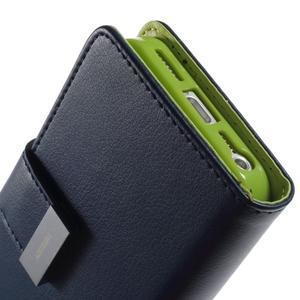 Rich diary PU kožené pouzdro na iPhone SE / 5s / 5 - tmavěmodré - 6