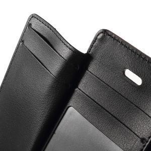 Rich diary PU kožené puzdro pre iPhone SE / 5s / 5 - hnedé - 6
