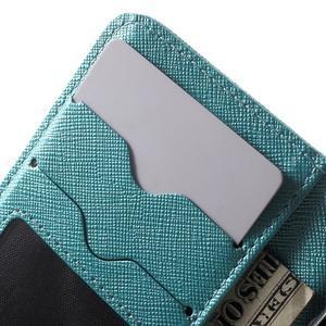 Cross PU kožené pouzdro na iPhone SE / 5s / 5 - modré - 6