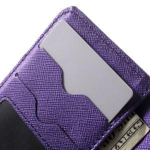 Cross PU kožené pouzdro na iPhone SE / 5s / 5 - fialové - 6