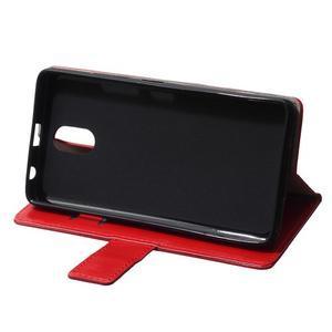 GX koženkové peňaženkové na mobil Lenovo Vibe P1m - červené - 6