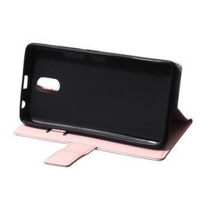 GX koženkové peňaženkové na mobil Lenovo Vibe P1m - růžové - 6