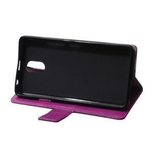 GX koženkové peňaženkové na mobil Lenovo Vibe P1m - fialové - 6