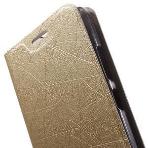 Klopové puzdro pre mobil Lenovo Vibe P1m - zlaté - 6