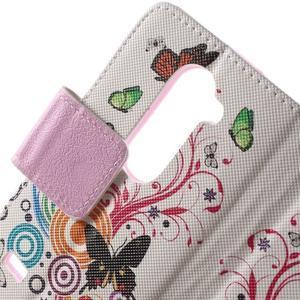 Emotive knížkové puzdro pre mobil LG Leon - motýľe - 6