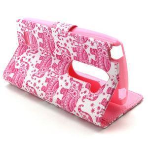 Style peňaženkové puzdro pre LG Leon - sloni - 6
