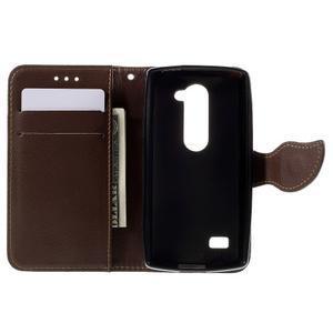 Leaf PU kožené pouzdro na mobil LG Leon - černé - 6