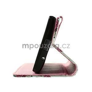 Peňaženkové puzdro pre LG Spirit - ruže - 6