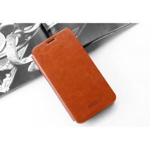 Vintage PU kožené puzdro s kovovou výstuhou pre Meizu MX5 -  hnedé - 6