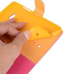 Wally koženkové pouzdro na mobil Microsoft Lumia 640 - rose - 6