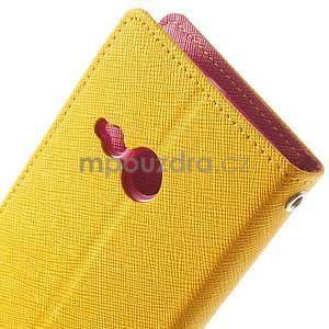 Style peňaženkové puzdro HTC One Mini 2 - žlté - 6