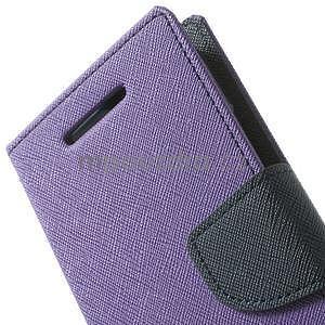 Style peňaženkové puzdro HTC One Mini 2 - fialové - 6