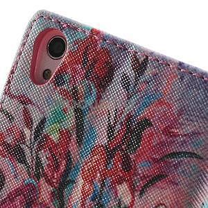 Obrazové peňaženkové puzdro na Huawei Ascend P7 - kytica - 6