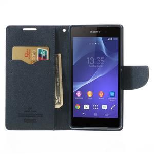 Fancy Peňaženkové puzdro pre Sony Xperia Z2 - fialové - 6