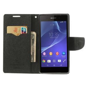 Fancy peněženkové pouzdro na Sony Xperia Z2 - hnědé - 6