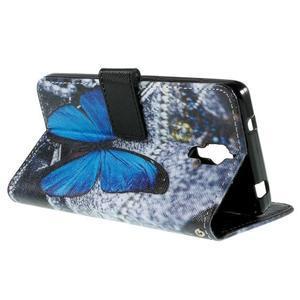 Cross peňaženkové puzdro na Xiaomi Mi4 - modrý motýl - 6