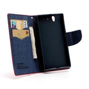 Mr. Goos peňaženkové puzdro na Sony Xperia Z - červené - 6