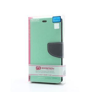 Mr. Goos peňaženkové puzdro na Sony Xperia Z - azurové - 6