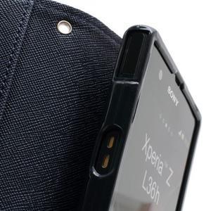 Mr. Goos peňaženkové puzdro pre Sony Xperia Z - fialové - 6