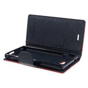 Mr. Goos peňaženkové puzdro na Sony Xperia M2 - červené - 6
