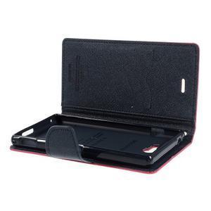Mr. Goos peňaženkové puzdro na Sony Xperia M2 - rose - 6