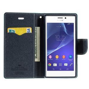 Mr. Goos peňaženkové puzdro na Sony Xperia M2 - azurové - 6