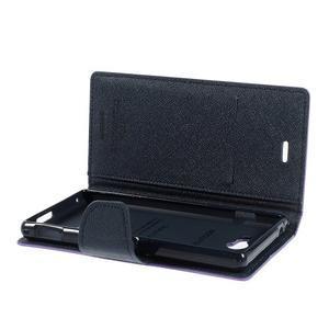 Mr. Goos peňaženkové puzdro na Sony Xperia M2 - fialové - 6
