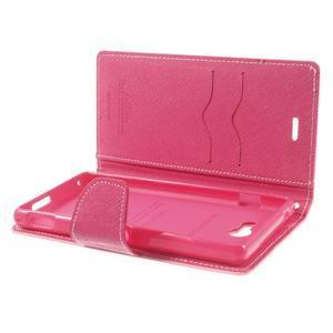 Mr. Goos peňaženkové puzdro na Sony Xperia M2 - růžové - 6