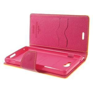 Mr. Goos peňaženkové puzdro pre Sony Xperia M2 - žlté - 6