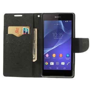 Fancy Peňaženkové puzdro pre Sony Xperia Z2 - čierne - 6