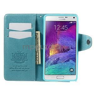 Zapínací peneženkové poudzro Samsung Galaxy Note 4 - svetlomodre - 6