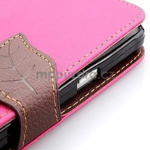Peňaženkové puzdro s pútkom na Samsung Galaxy Note 4 - rose - 6