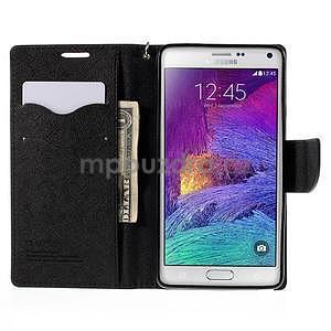 Stylové peňaženkové puzdro na Samsnug Galaxy Note 4 - čierne - 6