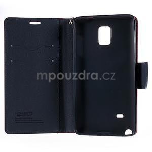Štýlové peňaženkové puzdro pre Samsnug Galaxy Note 4 - červené - 6
