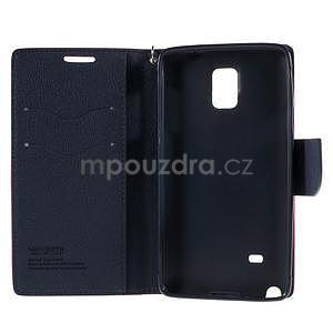 Stylové peňaženkové puzdro na Samsnug Galaxy Note 4 -  rose - 6