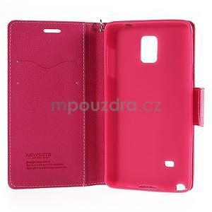 Stylové peňaženkové puzdro na Samsnug Galaxy Note 4 -  ružové - 6