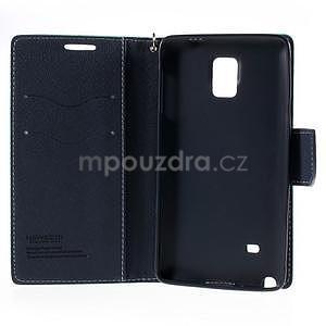 Štýlové peňaženkové puzdro pre Samsnug Galaxy Note 4 -  azúrové - 6