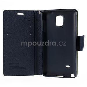 Stylové peňaženkové puzdro na Samsnug Galaxy Note 4 -  zelené - 6